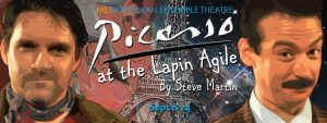 """Picallo at the Laping Agile"" opened to a capacity crowd and standing ovation at the Metropolitan Ensemble Theatre on Sat. Sept. 10. The absurd comedy by Steve Martin runs through Sept. 24."